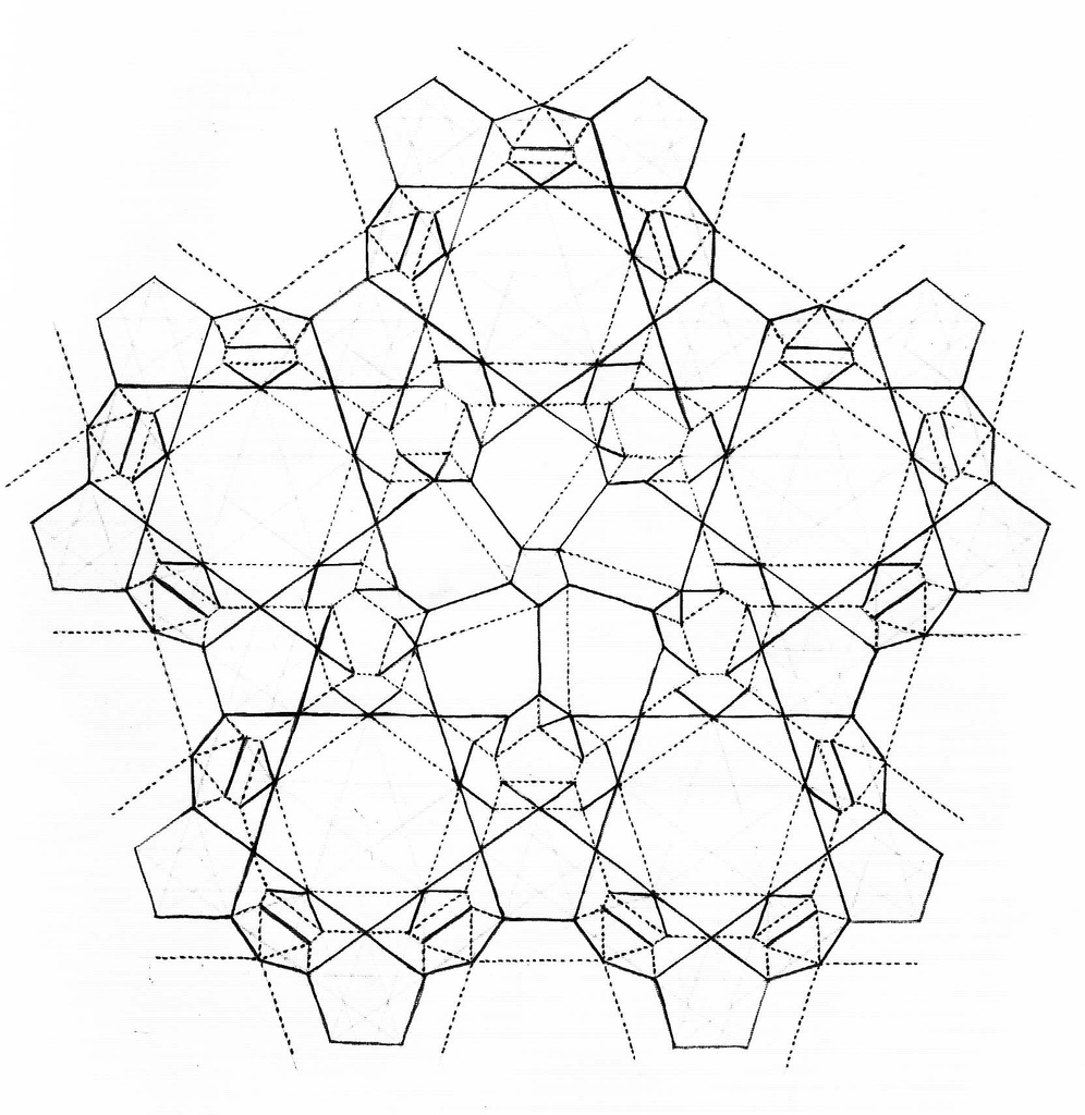 pentagons and negative stars - CP