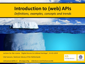 Ecosystems and APIs