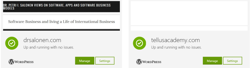 GoDaddy Management Portal
